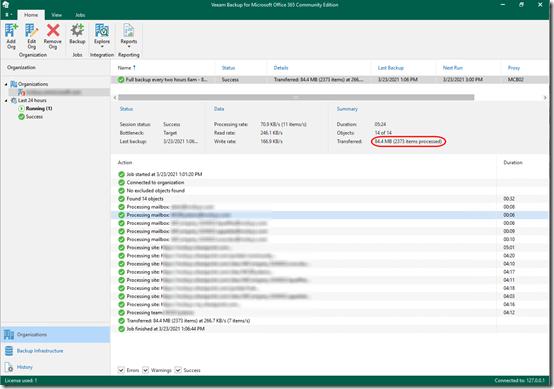 Veeam O365 Backup skips mailbox 1
