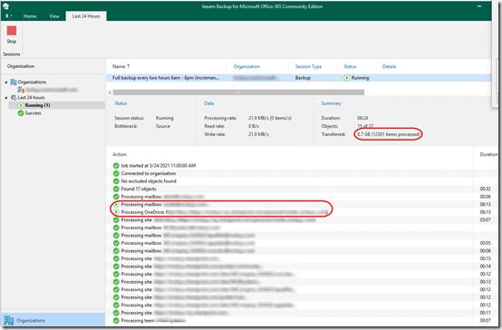 Veeam O365 Backup skips mailbox 3