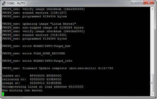 firmware update done