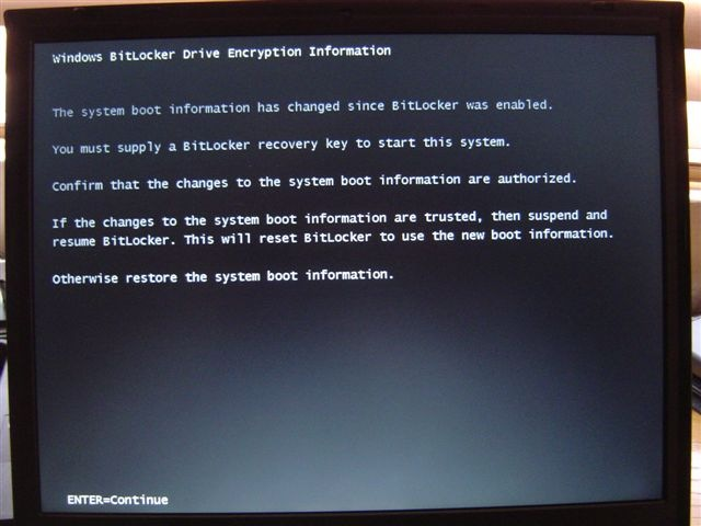 how to get out of bitlocker recovery