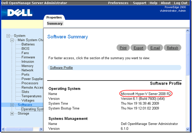 Dell OpenManage Web Interface